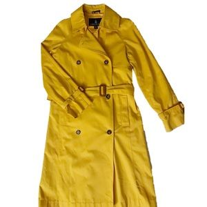 EUC London Fog Yellow Trench Coat